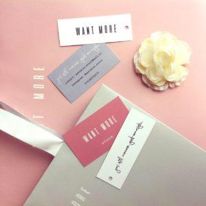 Бирки для изделий и визитки